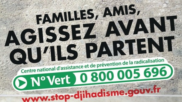 Le lundi 21 mars, conférence: la réponse de l'État en matière de prévention de la radicalisation