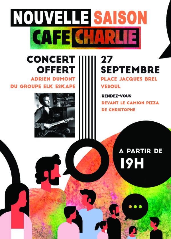 Concert de rentrée avec Adrien Dumont (ESKAPE) le vendredi 27 septembre 2019 à partir de 19 h00