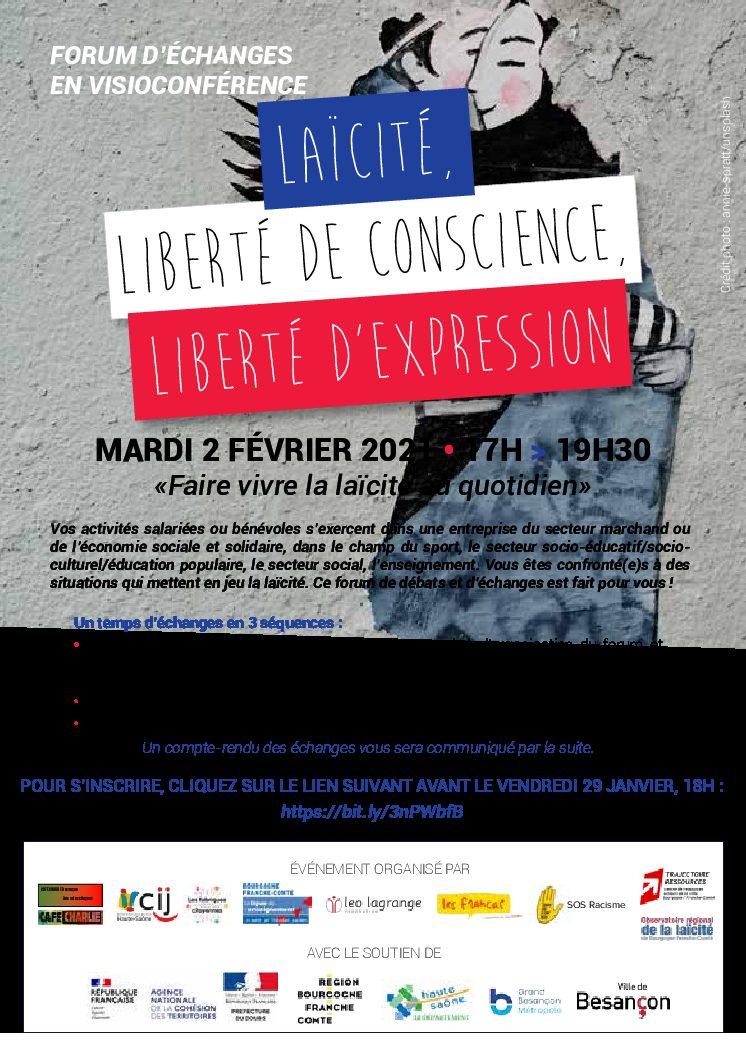 Forum de la laïcité le 2 février 2021